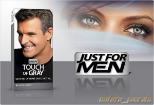 Just For Men - Touch of Grey  Czarny T-55 odsiwiacz , szampon , 40ml