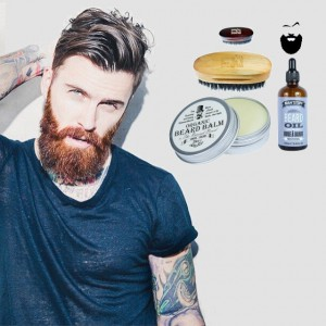 The Revered Beard Organic organiczny Balsam do brody 30 ml Szczotka Angry Beard Olejek Man'stuff